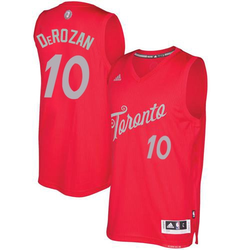 Men's Adidas Toronto Raptors #10 DeMar DeRozan Authentic Red 2016-2017 Christmas Day NBA Jersey
