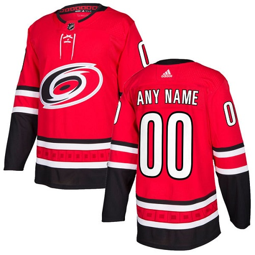 Men's Adidas Carolina Hurricanes Customized Authentic Red Home NHL Jersey