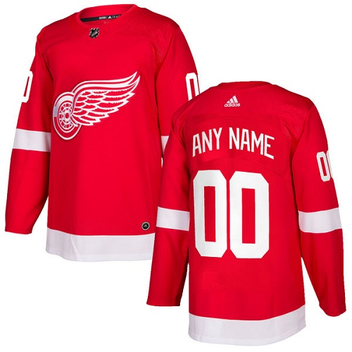 Men's Adidas Detroit Red Wings Customized Authentic Red Home NHL Jersey