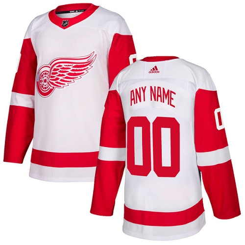Women's Adidas Detroit Red Wings Customized Authentic White Away NHL Jersey