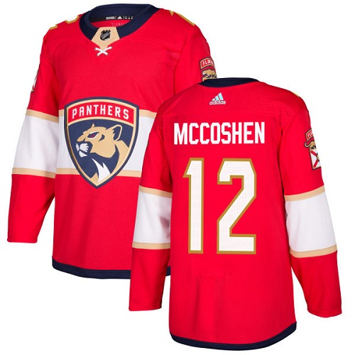 Men's Adidas Florida Panthers #12 Ian McCoshen Premier Red Home NHL Jersey
