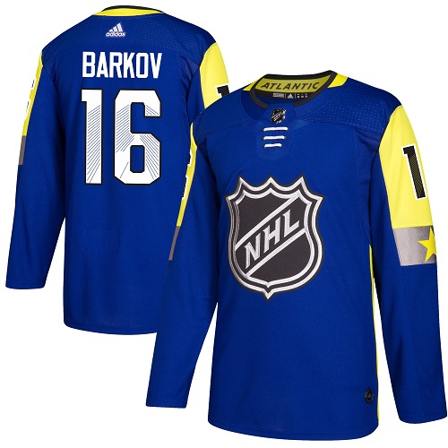 Men's Adidas Florida Panthers #16 Aleksander Barkov Authentic Royal Blue 2018 All-Star Atlantic Division NHL Jersey