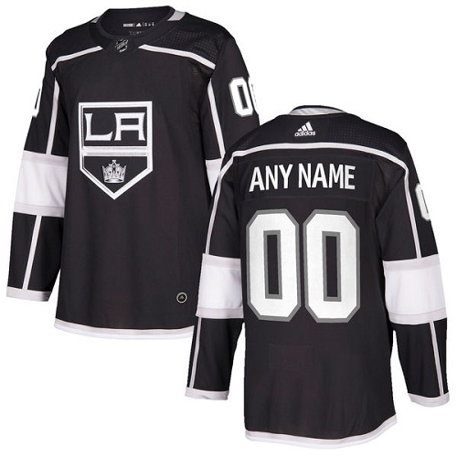 Youth Adidas Los Angeles Kings Customized Authentic Black Home NHL Jersey