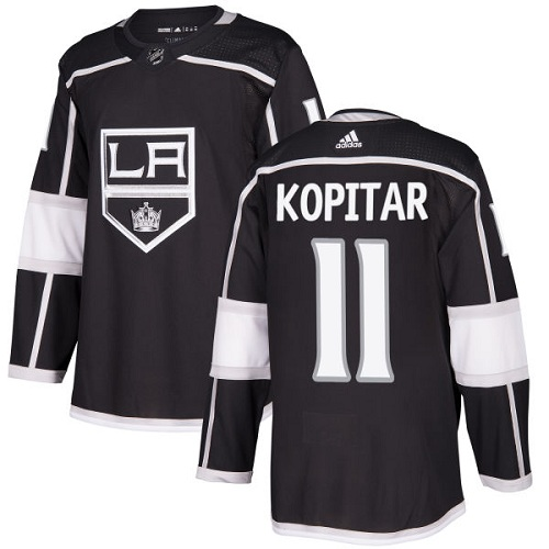 Men's Adidas Los Angeles Kings #11 Anze Kopitar Authentic Black Home NHL Jersey