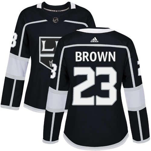 Women's Adidas Los Angeles Kings #23 Dustin Brown Authentic Black Home NHL Jersey