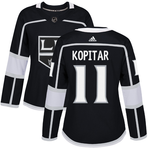Women's Adidas Los Angeles Kings #11 Anze Kopitar Authentic Black Home NHL Jersey