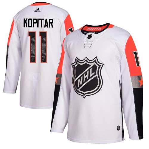 Men's Adidas Los Angeles Kings #11 Anze Kopitar Authentic White 2018 All-Star Pacific Division NHL Jersey