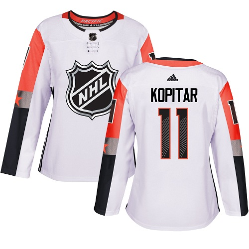 Women's Adidas Los Angeles Kings #11 Anze Kopitar Authentic White 2018 All-Star Pacific Division NHL Jersey