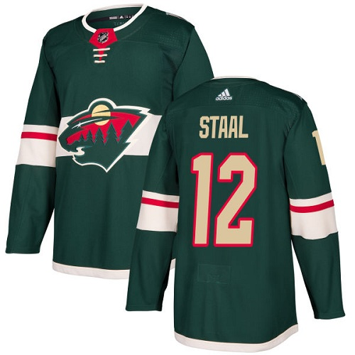 Men's Adidas Minnesota Wild #12 Eric Staal Authentic Green Home NHL Jersey
