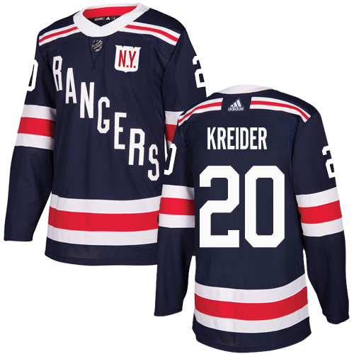 Youth Adidas New York Rangers #20 Chris Kreider Authentic Navy Blue 2018 Winter Classic NHL Jersey