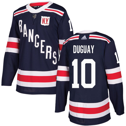 Men's Adidas New York Rangers #10 Ron Duguay Authentic Navy Blue 2018 Winter Classic NHL Jersey