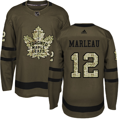 Men's Adidas Toronto Maple Leafs #12 Patrick Marleau Authentic Green Salute to Service NHL Jersey
