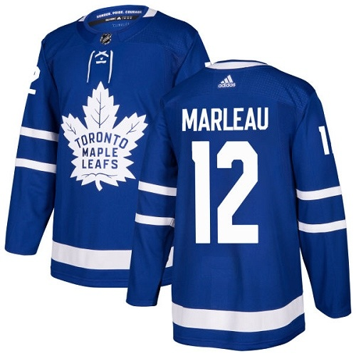 Men's Adidas Toronto Maple Leafs #12 Patrick Marleau Authentic Royal Blue Home NHL Jersey