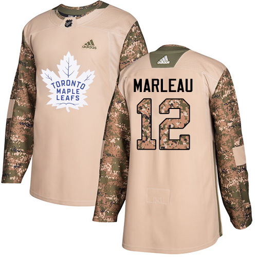 Men's Adidas Toronto Maple Leafs #12 Patrick Marleau Authentic Camo Veterans Day Practice NHL Jersey