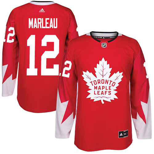 Men's Adidas Toronto Maple Leafs #12 Patrick Marleau Authentic Red Alternate NHL Jersey