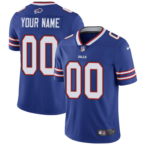 Men's Nike Buffalo Bills Customized Royal Blue Team Color Vapor Untouchable Custom Limited NFL Jersey