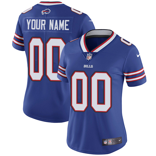 Women's Nike Buffalo Bills Customized Royal Blue Team Color Vapor Untouchable Custom Limited NFL Jersey