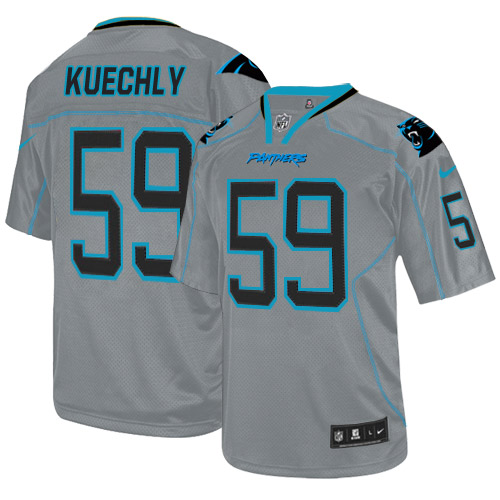 Men's Nike Carolina Panthers #59 Luke Kuechly Elite Lights Out Grey NFL Jersey