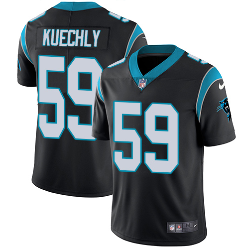 Men's Nike Carolina Panthers #59 Luke Kuechly Black Team Color Vapor Untouchable Limited Player NFL Jersey