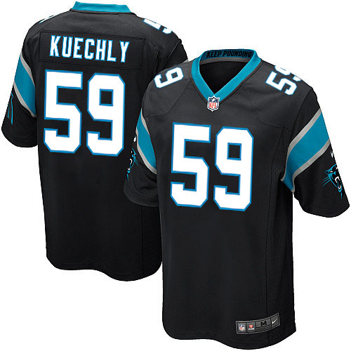 Men's Nike Carolina Panthers #59 Luke Kuechly Game Black Team Color NFL Jersey