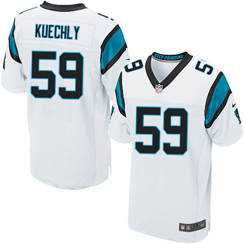 Men's Nike Carolina Panthers #59 Luke Kuechly Elite White NFL Jersey