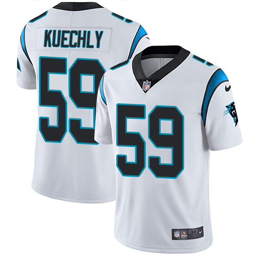 Men's Nike Carolina Panthers #59 Luke Kuechly White Vapor Untouchable Limited Player NFL Jersey