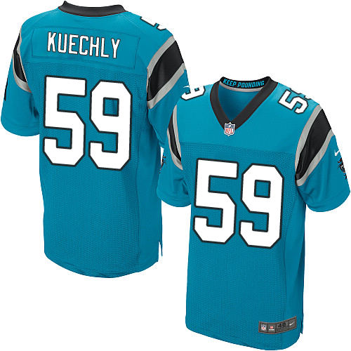 Men's Nike Carolina Panthers #59 Luke Kuechly Elite Blue Alternate NFL Jersey