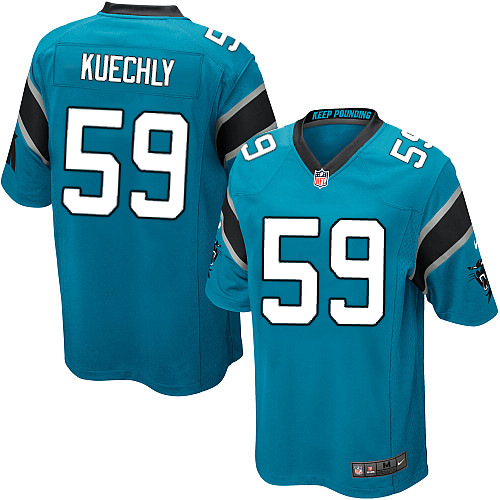 Men's Nike Carolina Panthers #59 Luke Kuechly Game Blue Alternate NFL Jersey