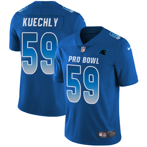 Men's Nike Carolina Panthers #59 Luke Kuechly Limited Royal Blue 2018 Pro Bowl NFL Jersey