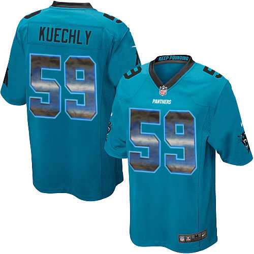 Men's Nike Carolina Panthers #59 Luke Kuechly Limited Blue Strobe NFL Jersey