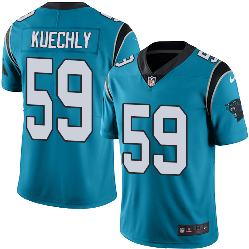 Men's Nike Carolina Panthers #59 Luke Kuechly Limited Blue Rush Vapor Untouchable NFL Jersey
