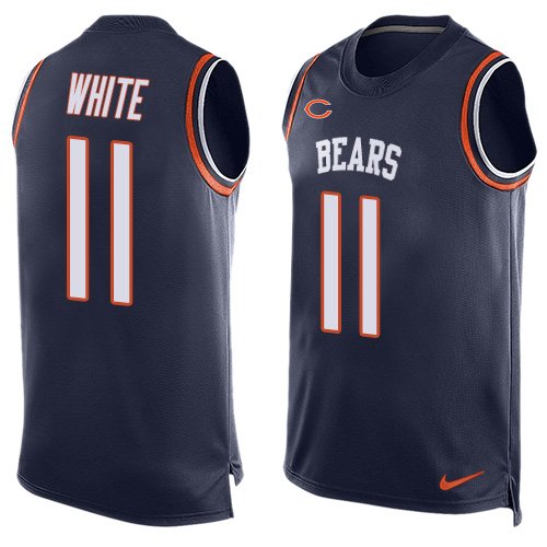 Men's Nike Chicago Bears #11 Kevin White Limited Navy Blue Player Name & Number Tank Top NFL Jersey