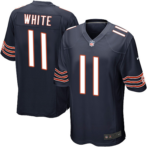 Men's Nike Chicago Bears #11 Kevin White Game Navy Blue Team Color NFL Jersey