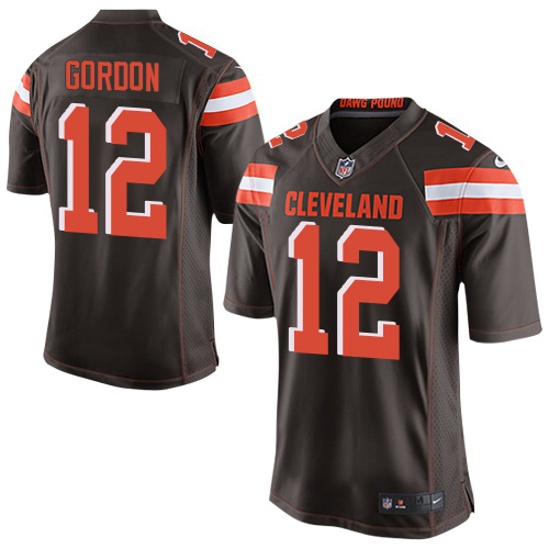 Men's Nike Cleveland Browns #12 Josh Gordon Elite Brown Team Color NFL Jersey