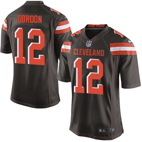 Men's Nike Cleveland Browns #12 Josh Gordon Game Brown Team Color NFL Jersey