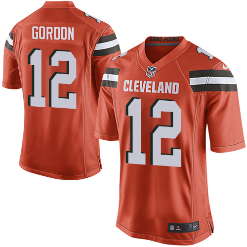Men's Nike Cleveland Browns #12 Josh Gordon Game Orange Alternate NFL Jersey