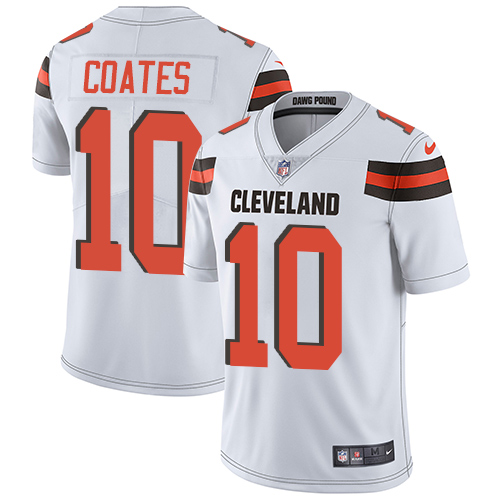 Men's Nike Cleveland Browns #10 Sammie Coates White Vapor Untouchable Limited Player NFL Jersey