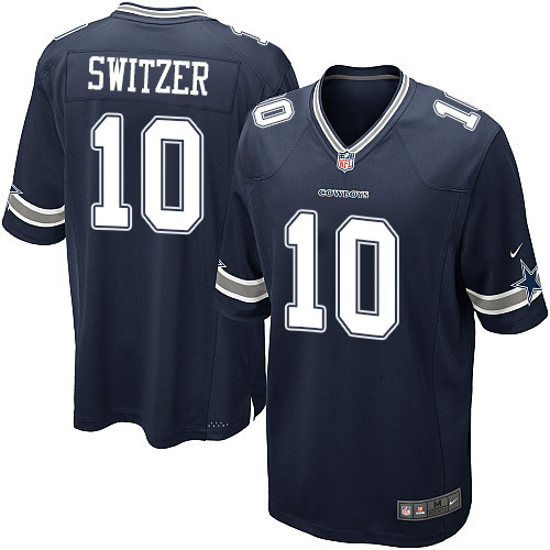 Men's Nike Dallas Cowboys #10 Ryan Switzer Game Navy Blue Team Color NFL Jersey