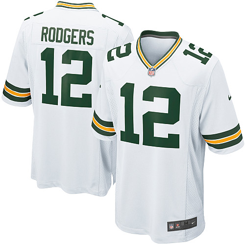 Men's Nike Green Bay Packers #12 Aaron Rodgers Game White NFL Jersey