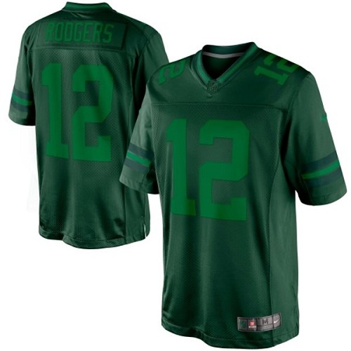 Men's Nike Green Bay Packers #12 Aaron Rodgers Green Drenched Limited NFL Jersey
