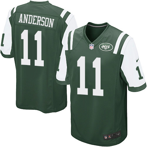 Men's Nike New York Jets #11 Robby Anderson Game Green Team Color NFL Jersey
