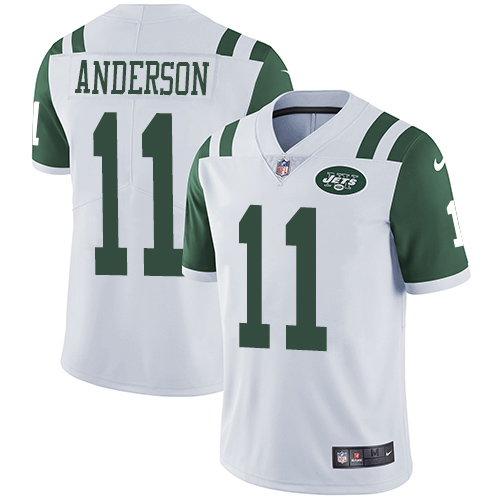 Men's Nike New York Jets #11 Robby Anderson White Vapor Untouchable Limited Player NFL Jersey