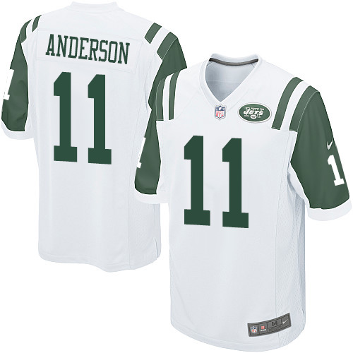 Men's Nike New York Jets #11 Robby Anderson Game White NFL Jersey