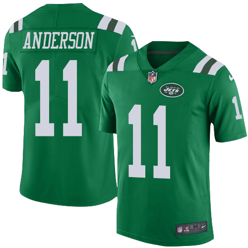 Men's Nike New York Jets #11 Robby Anderson Limited Green Rush Vapor Untouchable NFL Jersey
