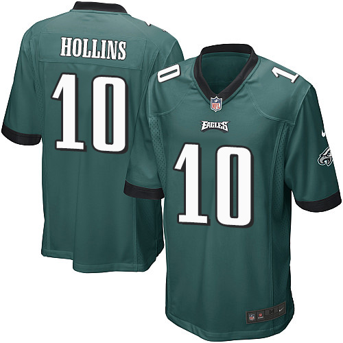 Men's Nike Philadelphia Eagles #10 Mack Hollins Game Midnight Green Team Color NFL Jersey