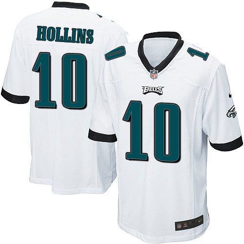 Men's Nike Philadelphia Eagles #10 Mack Hollins Game White NFL Jersey
