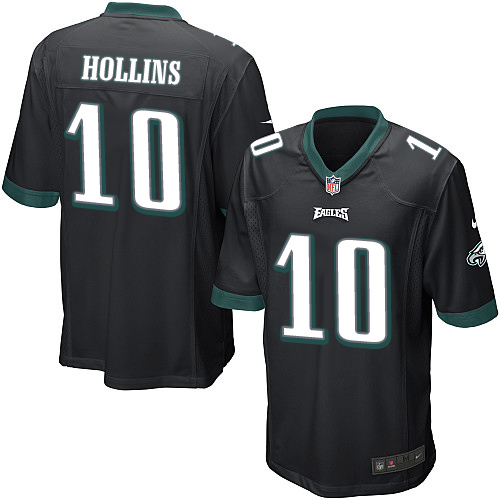 Men's Nike Philadelphia Eagles #10 Mack Hollins Game Black Alternate NFL Jersey
