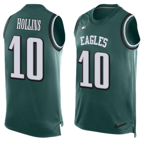 Men's Nike Philadelphia Eagles #10 Mack Hollins Limited Midnight Green Player Name & Number Tank Top NFL Jersey