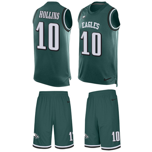 Men's Nike Philadelphia Eagles #10 Mack Hollins Limited Midnight Green Tank Top Suit NFL Jersey
