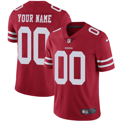 Men's Nike San Francisco 49ers Customized Red Team Color Vapor Untouchable Custom Limited NFL Jersey